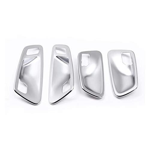 HUILING September Department Store Ajuste para BMW 2 Series Active Tourer F45 F46 2015-2018 Silver Interior Handles Tazas Cubiertas de decoración Cubierta de decoración Estilo de automóvil