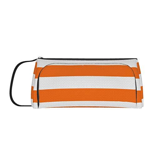 Bright Tumeric - Bolsa de lona para tienda de campaña, gran capacidad, color naranja y blanco