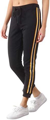 Pure Look Women s Side Stripe Capri Joggers Lounge Pants Crop Sweatpants Small Black product image
