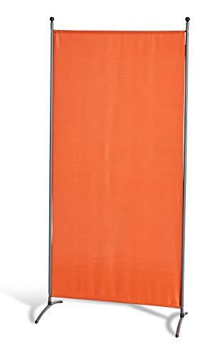 GRASEKAMP Qualität seit 1972 Stellwand 85 x 180 cm - Terrakotta - Paravent Raumteiler Trennwand Sichtschutz