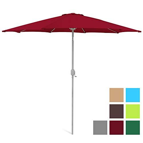 Best Choice Products 9ft Outdoor Market Patio Umbrella w/Crank Tilt, Wind Vent, 1.5in Diameter Pole - Red