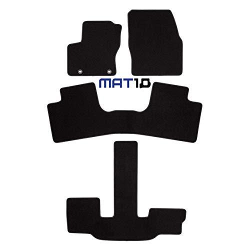 MAT10 – Black-Line: Ford Grand C-Max 7-Sitzer Baujahr 2010-12 - 2015-04 Auto Fußmatten Autoteppich Dilour Nadelfilz Gute Qualität 4-teilig Schwarz Garantierte Passform