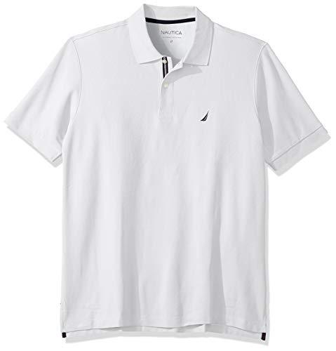 7) Nautica Men's Solid Performance Deck Polo Shirt