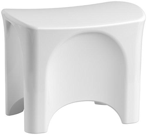STERLING, a KOHLER Company 72186104-0 Freestanding Shower Seat, 17.38 x 13.13 x 21.38, White