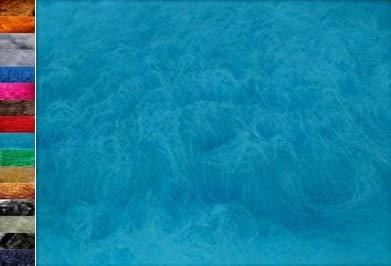 Stoffbook TÜRKIS WEICH KUNSTEFELL HOCHLANDRIND LANGHAAR Fell Windschutz MIRKOFON TEDDYFELL FLOKATI Fellimitat Stoffe, B700(türkis)