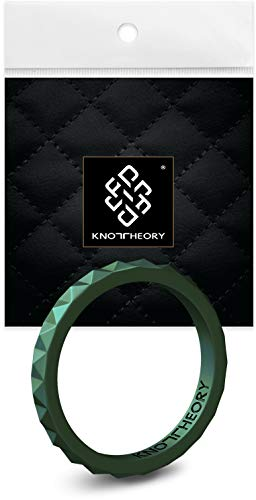 Knot Theory Thin Silicone Ring for Women - Enchanted Forest 2mm Band Size J 1/2