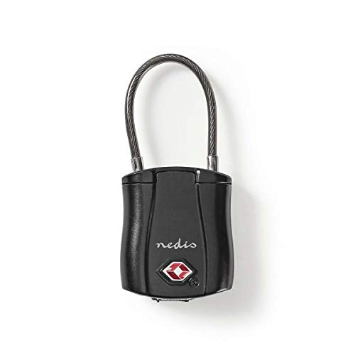 NEDIS TAS Luggage Lock Bluetooth with Rechargeable Battery, Wireless Keyless Lock with Tracking & Smartphone Control via iTrackEasy App