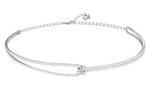 Girocollo Swarovski Lifelong, bianco, placcatura rodio
