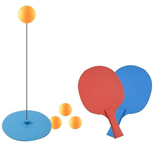 MZSC Ping-Pong Trainer Tabla de Formación Tenis Blanda elástica del Eje del Instructor del Ping-Pong Bolas Paletas Set Deportes