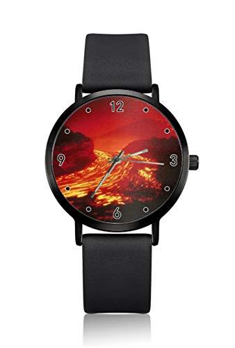 Slurry Flame - Reloj de Pulsera para Mujer, Ultra Delgado, analógico, Muy Sencillo, Ultra Delgado, Movimiento de Cuarzo japonés