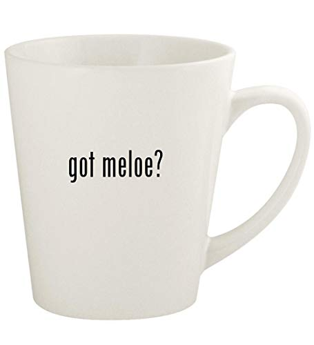 got meloe? - 12oz Ceramic Latte Coffee Mug Cup, White