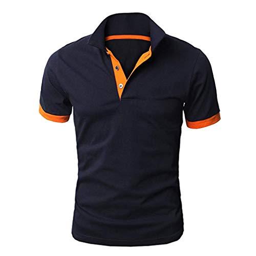 Frashing Herren Sommer Polo Shirt Kurzarm Shirt Poloshirt Kurzarmshirt Sportshirt T-Shirt Freizeit Hemd Slim Fit/Regular Fit Einfarbige Casual Top Polohemd