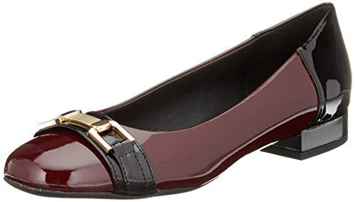 Geox Damen D WISTREY A Geschlossene Ballerinas, Rot (Bordeaux/Black C0044), 40 EU