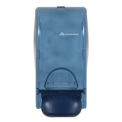 Wall-Mounted Manual Dispenser for Foaming Hand Soap and Hand Sanitizer by GP PRO (Georgia-Pacific), Splash Blue, 53052, 5.600' W x 4.600' D x 10.700' H