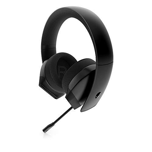Alienware Stereo-PC-Gaming-Headset AW310H: 50 mm hochauflösende Treiber – Sportstoff Memory Foam Ohrpolster – funktioniert mit PS4, Xbox One & Switch über 3,5-mm-Klinkenstecker