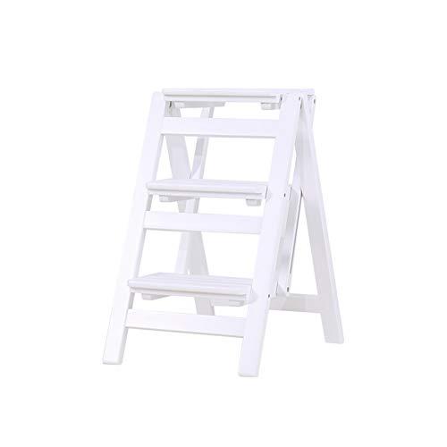 L- 3 Stufen Leiterstuhl Tritthocker Trittleiter Haushaltsleiter Hockerleiter Aus Massivholz Küchenleiter Hocker (Color : C)