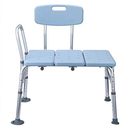 Taburete de Ducha Banco de traslado de Silla de baño, bañera de baño Tina de Ducha de Seguridad con Espalda y Mango, Equipo de Seguridad para discapacitados, Personas Mayores, bariátrica