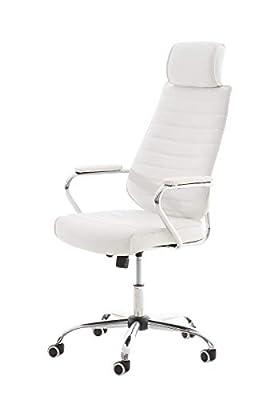 CÓMODA: La silla de oficina RAKO ofrece máximo confort gracias a los materiales con los que esta fabricada y a sus formas. La silla de estudio tiene un acolchado de primera calidad y el tapizado es de cuero sintético. CARACTERÍSTICAS: La silla de ofi...