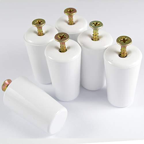 ✓ Rolladen aanslagstop stop rolluiken stopper buffer gesloten 3 Paar = 6 Stück wit