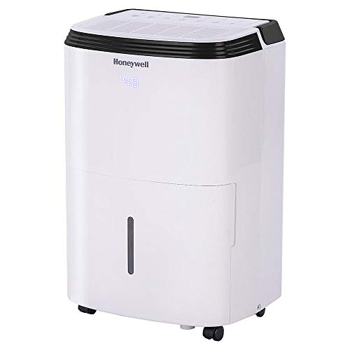 Honeywell TP70PWK Powerful Intelligent 70 Pint Portable Whole House Home Dehumidifier for Up to 4,000 Square Feet, White (Certified Refurbished)