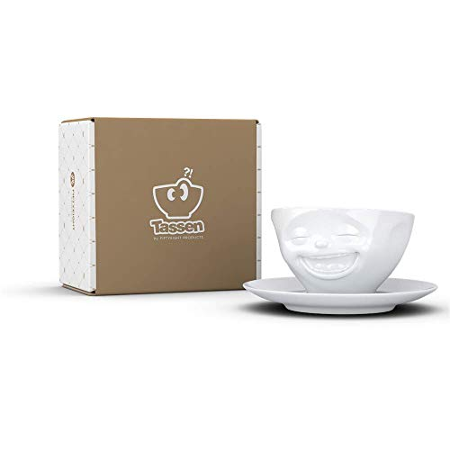 Tasse Lachend weiß - FIFTYEIGHT - 200 ml - Kaffeetasse Teetasse - T014701