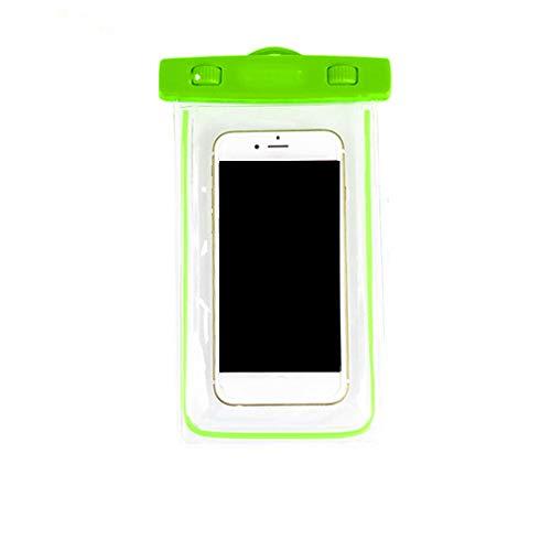 teng hong hui Natación Impermeable del teléfono Bolsa subacuática con el Caso de tintorería Caja estanca portátil Correa noctilucentes noctilucentes Bolsa de PVC para móviles