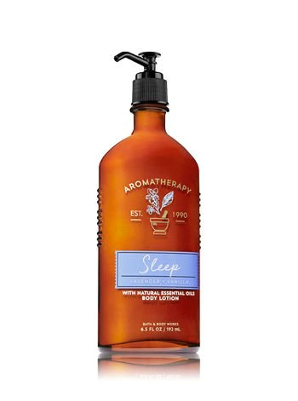 うれしいいっぱい万歳【Bath&Body Works/バス&ボディワークス】 ボディローション アロマセラピー スリープ ラベンダーバニラ Body Lotion Aromatherapy Sleep Lavender Vanilla 6.5 fl oz / 192 mL [並行輸入品]