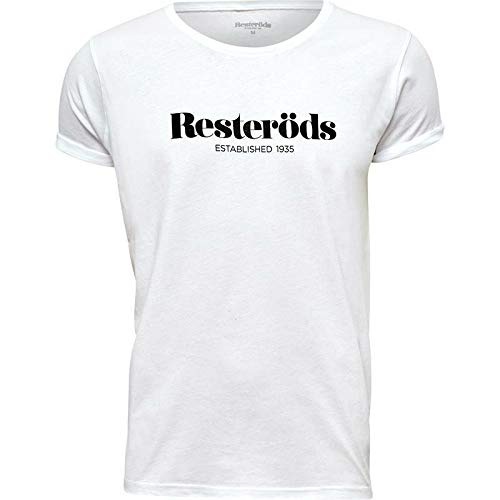 Resteröds Of Sweden Logo T-Shirt Jimmy Logo White Cotton M Xl New