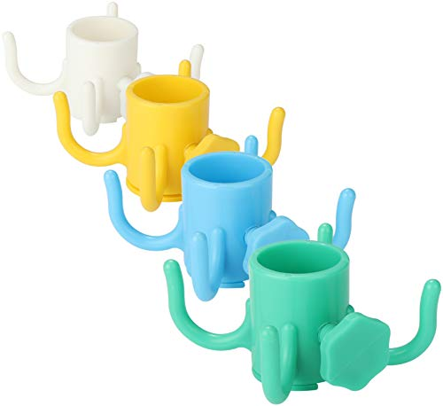 com-four® 4X Kleiderhaken für den Sonnenschirm [Farbe variiert], Schirm-Haken für Schirmstöcke 15-32 mm Ø (04 Stück - Schirmhaken)
