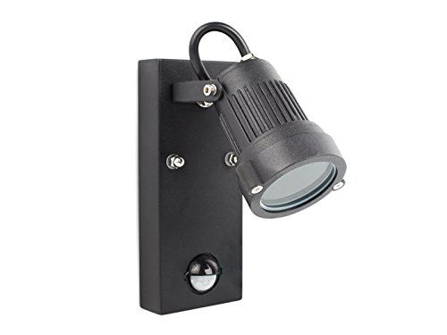 Buitenwandlamp met bewegingssensor, incl. 3 watt LED, 230 lumen, 3000K, wandlamp met bewegingsmelder