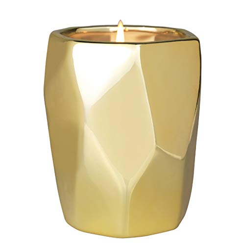 La Jolíe Muse Marokkanischer Bernstein & Patschuli Duftkerze, natürliche Sojakerze für zu Hause, 60-80 Stunden Lange Brennzeit Keramik Geschenkkerze, 10oz