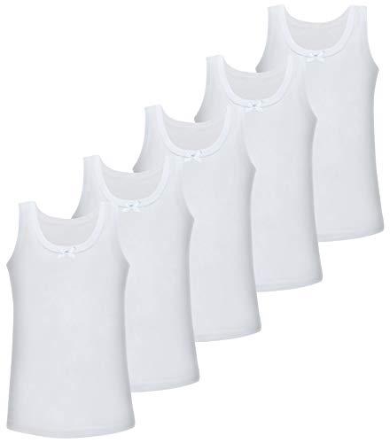 LOREZA ® 5 Camisetas de Tirantes Interiores para Niña - Modelo 1-12-13 años