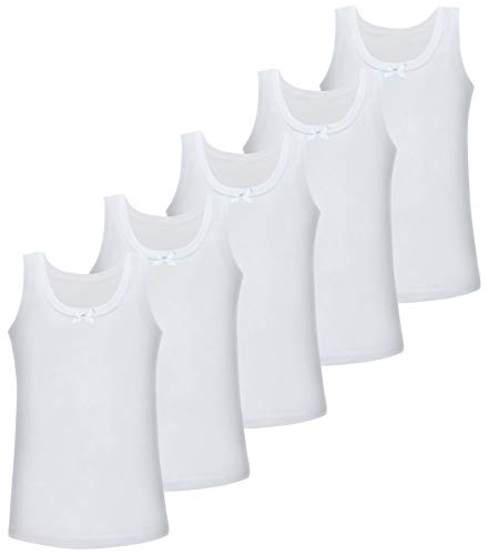 PiriModa Camiseta Interior para niña - 100% algodón - Pack de 5 Unidades