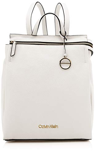 Calvin Klein Sided Backpack - Zaini Donna, Bianco (White), 1x1x1 cm (W...
