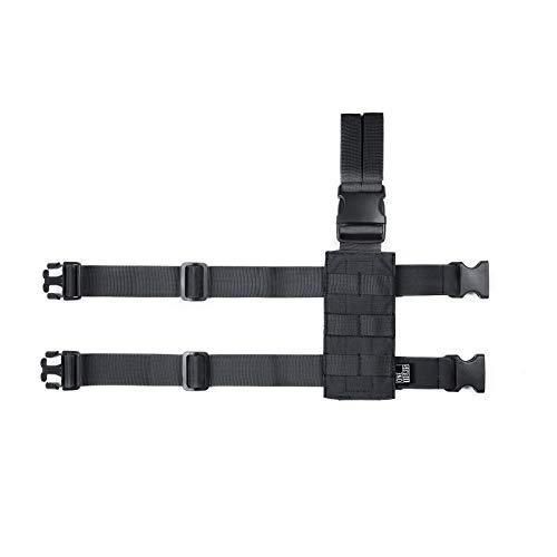 OneTigris Molle Drop Leg Panel 1000D Tactical Mini Platform for Pistol Holster(Black)