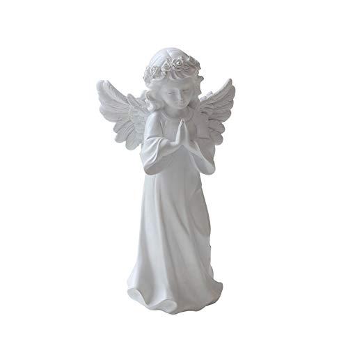 CJshop Skulptur Ornamente Harz Angel Statue, Adorable Mädchen Dekorative Ornamente, 11.4''h, Wohnkultur Fairy Gebet, Beten Sie für Ihre Familie, für Wohndekorationen Statue Decor