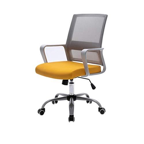 GJZM Ufficio Sedia Girevole, Executive Computer Desk Mesh Sedia Manager Boss Sedia con braccioli Regolabili e Funzione di Sollevamento per Sedia Home Convegno di Studio Lavoro Task Girevole,B