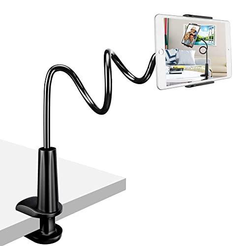 Zoeley Tablet Halter, Schwanenhals Tablet Halterung Verstellbarer Arm Flexibler Multi Angle Lazy Handyhalter Ständer für iPad/iPhone/Huawei/Samsung/Nintendo Switch/Kindle Fire HD Mediapad