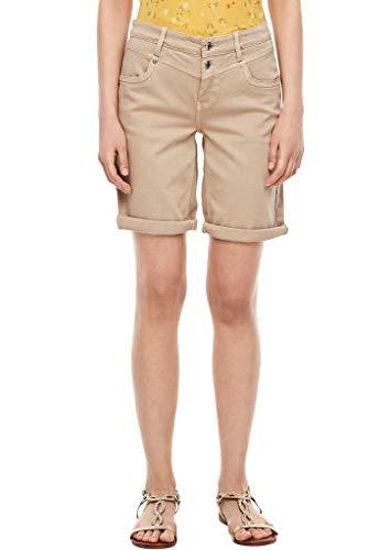 s.Oliver Damen Regular Fit: Bermuda aus Baumwollstretch brown stretched d 34