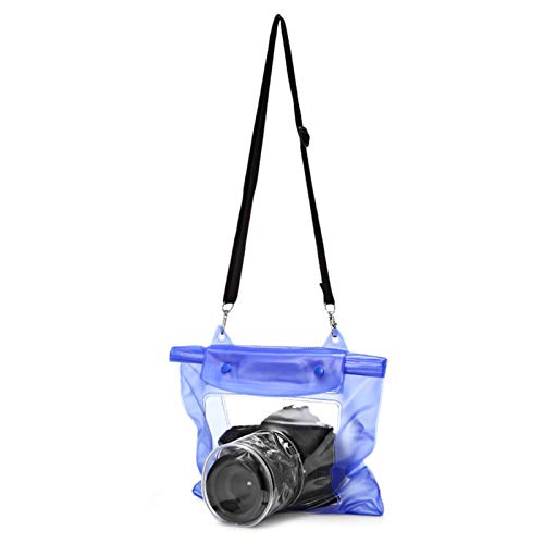 EPOWAD Accesorios de la cámara 1pc Portátil Transparente Impermeable SLR DSLR Cámara de la cámara de la Bolsa para la fotografía Bucking Camping Pesca Agua a Prueba de Agua (Color : Blue)