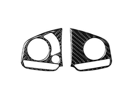 Carkio Steeling Wheel Trim Tasti Sinistra e Destra Telaio Adesivi In Fibra di Carbonio Copertura di Ricambio Fit per Honda Civic 10th Generation 2016 2017 2018 2019 2020 (Set di 2)