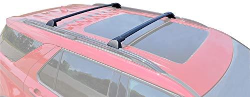 BRIGHTLINES Crossbars Roof Racks Compatible with Ford Explorer 2020 2021 for Kayak Luggage ski Bike Carrier