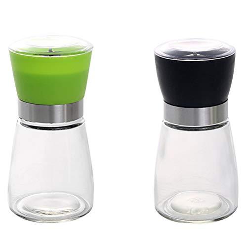Handleiding glazen zwarte pepermolen, creatieve keukenbenodigdheden, pepermolen, zwarte pasta peper kruidenfles,M3