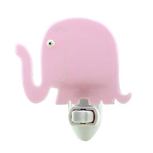 Fused Glass Elephant Night Light (Pastel Pink)