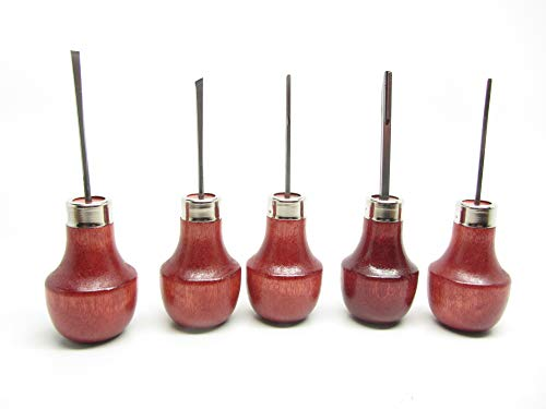 UJ Ramelson 5 Piece Palm Carving Set - Sub Miniature Detail and Durable - Great for Intricate Work - Safe and Comfortable