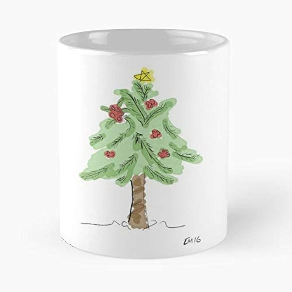 Christmas Tree Merry Baubles -funny Present For My Greatest Boss Male Or Female, Men, Women, Great Office Gift Mugs, Birthday, Leaving, Bold, Cup, 11 Oz