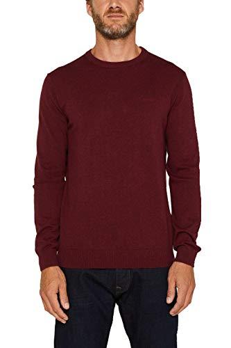 ESPRIT Herren 999Ee2I803 Pullover, Rot (Dark Red 610), X-Large (Herstellergröße: XL)
