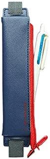 Notebook Pen Holder Attachable Fountain Pen Case for Medium Size Hardcover Notebooks, Journals, Planners, Zipper Closure(Dark Blue)