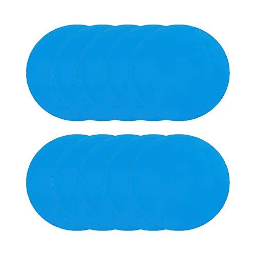 WANGQ 20 Pcs Reparación Parches Autoadhesivos 0.2x0.3cmcm Parches - Azul con Pegamento Fuerte para Arreglar Cualquier Fuga De Aire O Pincha, Piscinas E Hinchables, Carpas