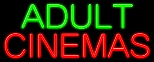 Adult Cinemas Glass neon Sign Made Max 63% OFF #11347 USA low-pricing in